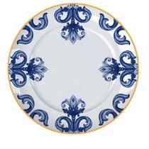 Jogo 6un Pratos Rasos Versa Porto 27,5cm Porcelana Germer -