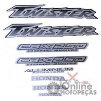 Jogo Adesivos CBX 250 Twister 2003 Preta LBM - Lbm Auto Adesivos