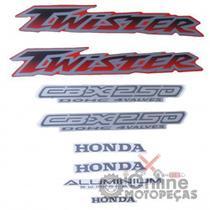 Jogo Adesivos CBX 250 Twister 2003 Vermelha LBM - Lbm Auto Adesivos