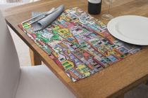 Jogo Americano Impermeável 4 Pcs Para Buffet favela - Nave Sublimação