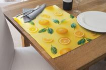 Jogo Americano Impermeável 4 Pcs Para Buffet laranja - Nave Sublimação