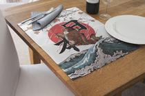 Jogo Americano Impermeável 4 Pcs Para Buffet peixe - Nave Sublimação