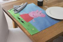Jogo Americano Impermeável 4 Pcs Para Buffet peppa pig - Nave Sublimação