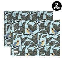 Jogo Americano Mdecore Pássaros 40x28 cm Azul -