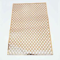 Jogo americano retangular metalizado 47x30cm cobre, dourado, bronze - Onyx