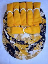 Jogo Americano Souplat 6 Lugares Jacquard Jogo Completo - 24 peças - Amarelo Floral - La Casa Paris