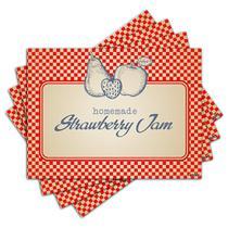 Jogo Americano - Strawberry Jam com 4 peças - 124Jo - Allodi