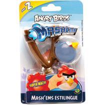Jogo Angry Birds - Mashems Estilingue - Blue Bird - Série 2 - DTC -