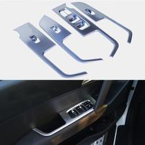 Jogo Aplique Botao Vidro Eletrico Prata Hyundai Creta -
