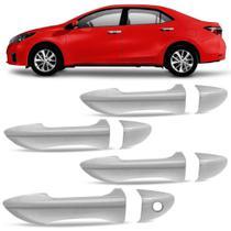 Jogo Aplique Cromado para Maçaneta Toyota Corolla 4 Portas 2015 em diante - Shekparts -