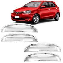 Jogo Aplique Cromado para Maçaneta Toyota Etios 2013 4 Portas em diante - Shekparts -