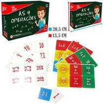 Jogo as 4 operacoes matematicas com 54 pecas na caixa - Coluna