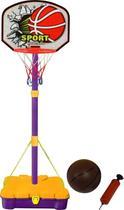 Jogo basquete aro 46cm com rede bola bomba e mala bel fix - Belfix