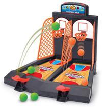 Jogo basquete infantil duplo mini cesta bola ao cesto basketball radical com placar - Makeda