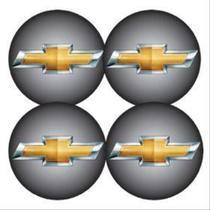 Jogo Bottom Emblema para Calota GM 48mm Degrade 4 Pecas Resinado - Marçon -