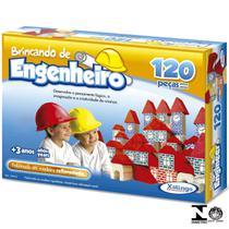 Jogo Brincando De Engenheiro 120 Peças 5279.8 Xalingo -