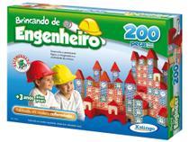 Jogo Brincando de Engenheiro 200 Peças - Xalingo -