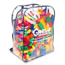 Jogo brinquedo educativo bloco montar conecta formas 1000 pç - Carlu