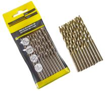 Jogo Broca Aço Rápido P/ Ferro Metal Alumínio 10 Peças 4mm - Eda