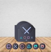 Jogo c/ 6 Porta Copo Geek Magnético/Imã de Geladeira - PlayStation - Com Caixinha - Mania De Mdf