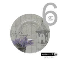 Jogo C/ 6 Pratos Fundos Lavender - Alleanza
