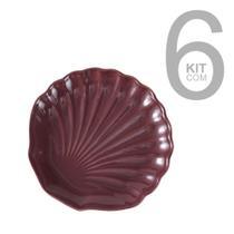 Jogo c/ 6 pratos s/mesa ocean sumac - porto brasil -