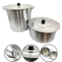 Jogo Caçarola e Caldeirão Alumínio Panela Feijoada Sopa N34 - Alumínio Extra Forte