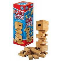 Jogo caiu perdeu de madeira mdf c/54 pcs 28x8x8cm na caixa 7460.1 pais e filhos -