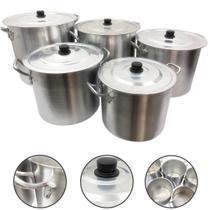 Jogo Caldeirão Alumínio Panela Sopa Feijoada 26 28 30 32 34 - Alumínio Extra Forte