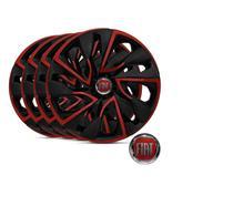 Jogo Calota Aro 13 Esportiva Black Red Fiat Uno Vivace 4 peças - Elitte
