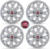 Jogo Calota Aro 13 Fiat Palio Fire 2014/... Com Emblema - Grid calotas
