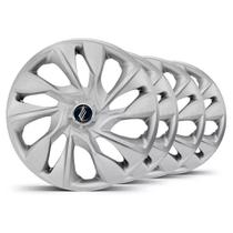 Jogo Calota Esportiva Aro 15 DS4 Silver - Universal Ford GM VW Fiat Renault Toyota Nissan Hyundai - Elitte