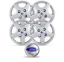 Jogo Calota Ka 2008 2009 2010 2011 2012 Aro 13 Com Emblemas Ford Cubo Baixo - Grid