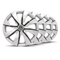 Jogo Calota Prime Aro 14 Prata / Grafite VW Gol G5 - Elitte