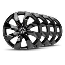 Jogo Calota Prime Unicolor Aro 14 Preta VW Fox - Elitte