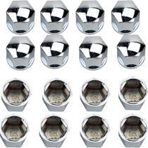 Jogo Capa Parafuso Roda Cromado Modelo 19mm - Shekparts