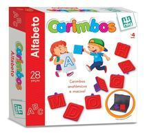 Jogo Carimbos Letras Alfabeto 28 Peças Pedagógico - Nig -