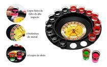 Jogo Cassino Roleta Shot - 16 Copos Bebida Drink Destilado - Driks