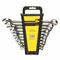 Jogo Chave Combinada 6 A 22mm Cromo Vanadio 12pçs 8AX - Eda -