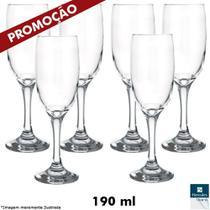 Jogo com 06 Taças Champagne 190 ml - Hercules Vetro -