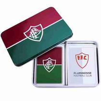 Jogo Com 2 Baralhos Dentro Da Lata - Fluminense - Mileno