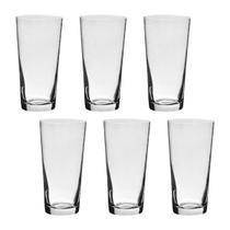 Jogo com 6 Copos De Cristal Para Água 400 ml Linha Jive Bohemia -