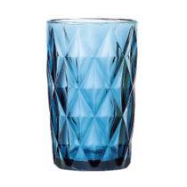 Jogo com 6 Copos Diamond Azul 360Ml Casambiente Covi055 -