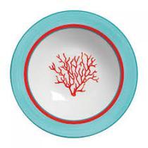 Jogo com 6 pratos fundos Coral - Cerâmica Scalla