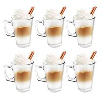Jogo com 6 Xícaras 250ml Compativel Dolce Gusto Cappuccino - Wincy