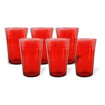 Jogo copo vidro alice homecook 6 pcs x 340ml - Niazitex