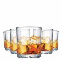 Jogo Copos Whisky Mirage On The Rocks Vidro 280ml 6 Pcs - Ruvolo