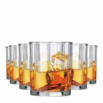 Jogo Copos Whisky Octon On The Rocks Vidro 280ml 6 Pcs - Ruvolo