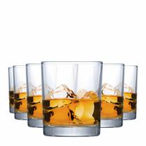 Jogo Copos Whisky Prestige On The Rocks Vidro 340ml 6 Pcs - Ruvolo
