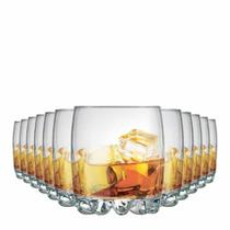 Jogo Copos Whisky Riviera On The Rocks Vidro 310ml 12 Pcs - Ruvolo